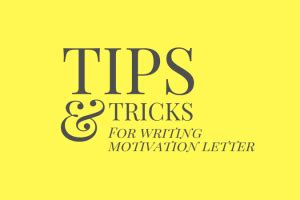 3 responses to Tips: How To Write A Good Motivation Letter